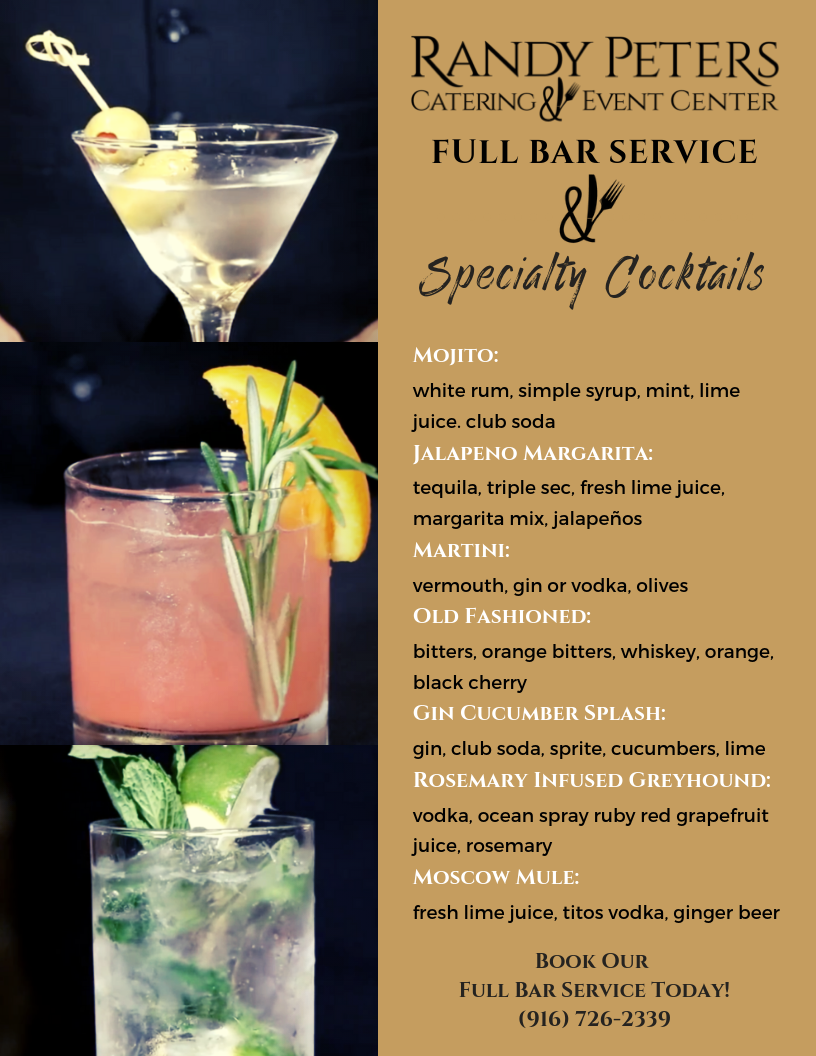 specalty cocktails randy peters catering