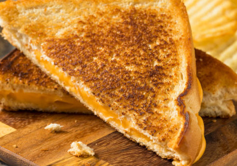 Homemade Grilled Cheese Sandwich with Potato Chips